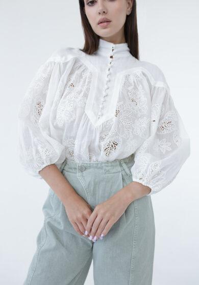 Льняная блузка ZIMMERMANN